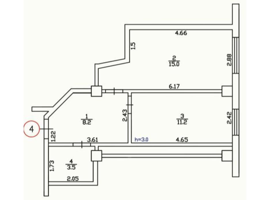 Планировка 1-комнатной квартиры в ЖК Усадьба 37.1 м², фото 149735