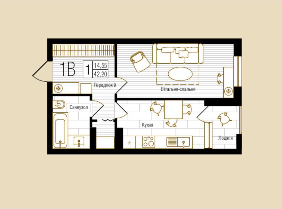 ЖК NEW YORK Concept House планировка 52