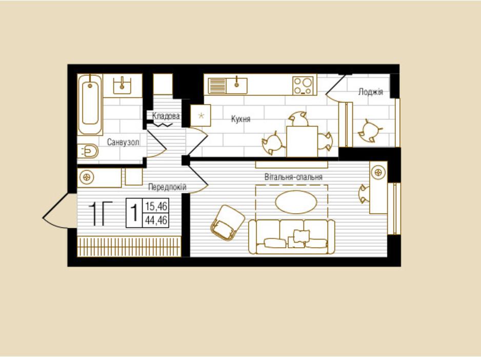 ЖК NEW YORK Concept House планировка 32