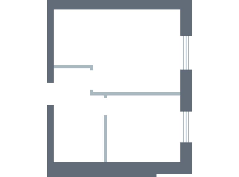 Планування 1-кімнатної квартири в ЖК Озерки 38.07 м², фото 157931