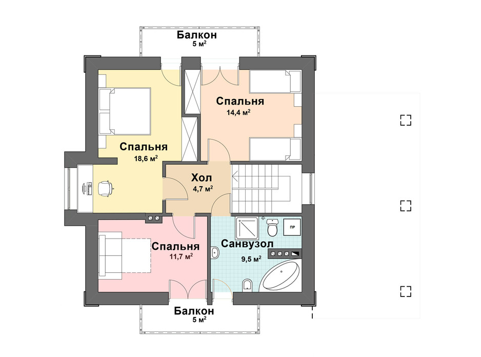 Планування котеджу в КМ Praud Hills 124 м², фото 163822