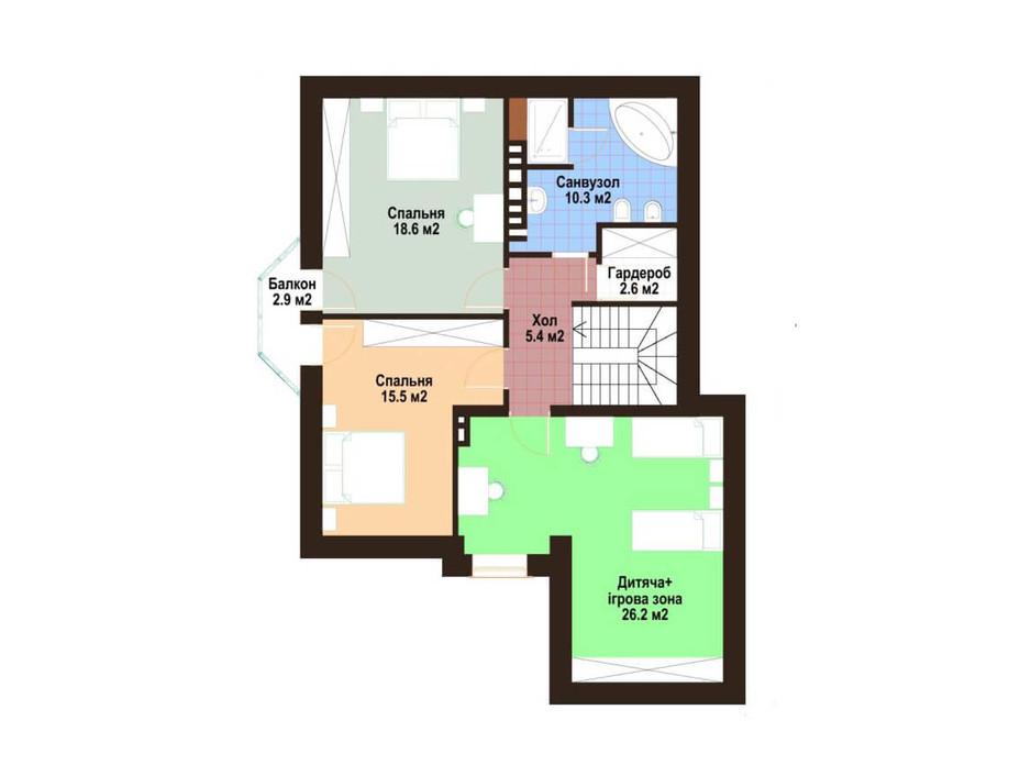 Планировка коттеджа в КГ Praud Hills 159 м², фото 163826