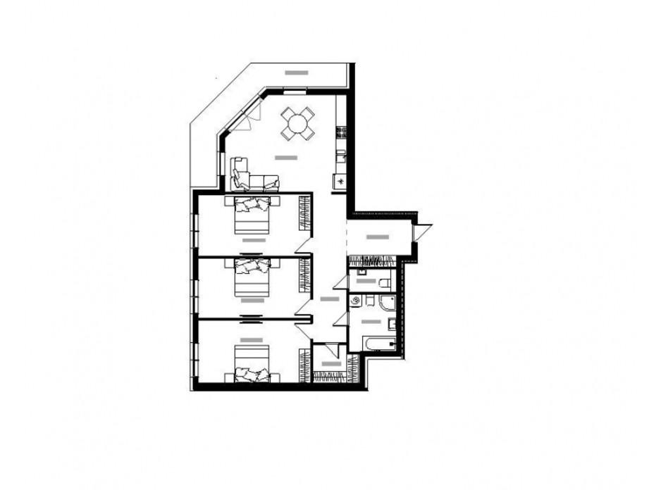 Планування 3-кімнатної квартири в ЖК River Land 135 м², фото 168583