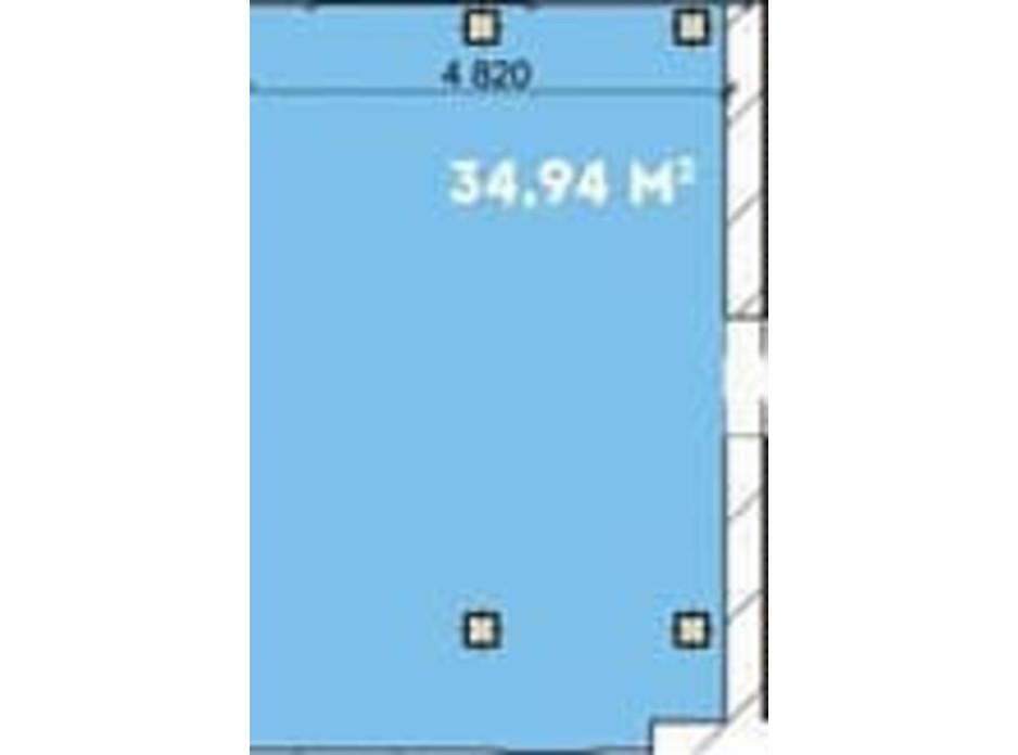 Планировка помещения в Офіс-центр Avila 34.95 м², фото 169956
