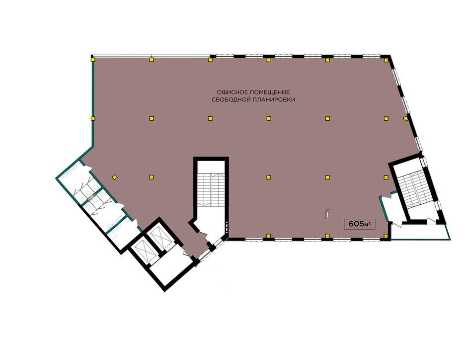 Планування 1-кімнатної квартири в ЖК IT-парк Manufactura Next 605 м², фото 179616