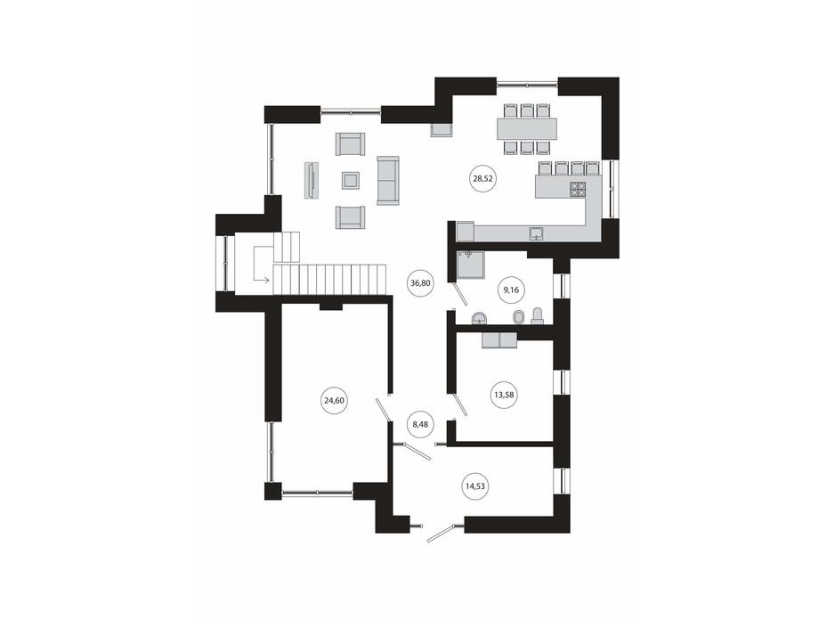 Планування багаторівневої квартири в КМ River Island 303 м², фото 179804