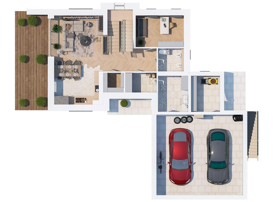 Планування котеджу в КМ Ozon village 215.51 м², фото 181738