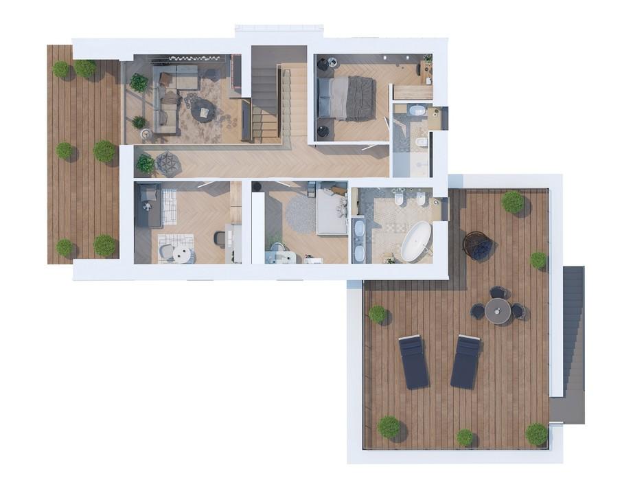 Планування котеджу в КМ Ozon village 215.51 м², фото 181740