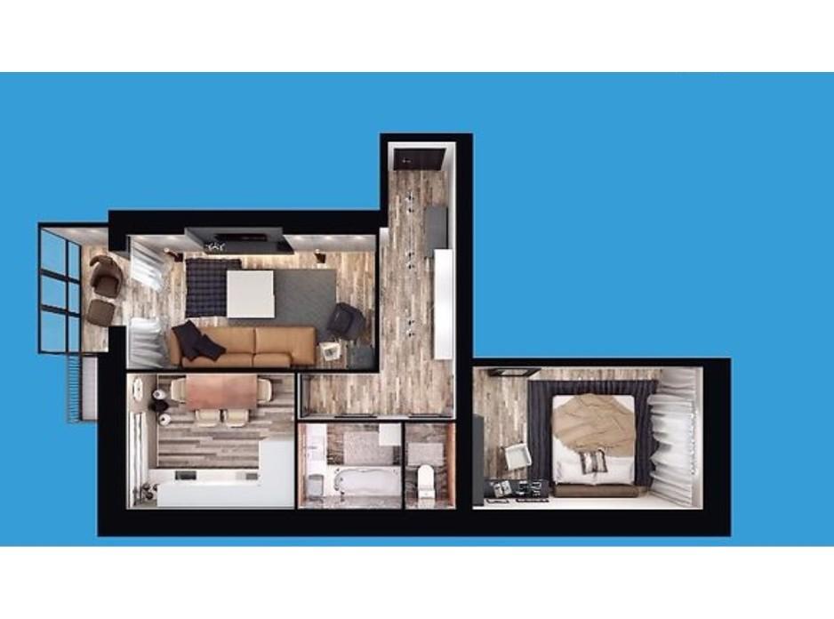 Планировка 2-комнатной квартиры в ЖК Европейский Двор 60.13 м², фото 187219