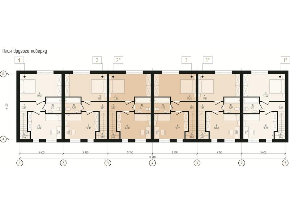 Планировка коттеджа в КГ Eurovillage 2 83 м², фото 189262