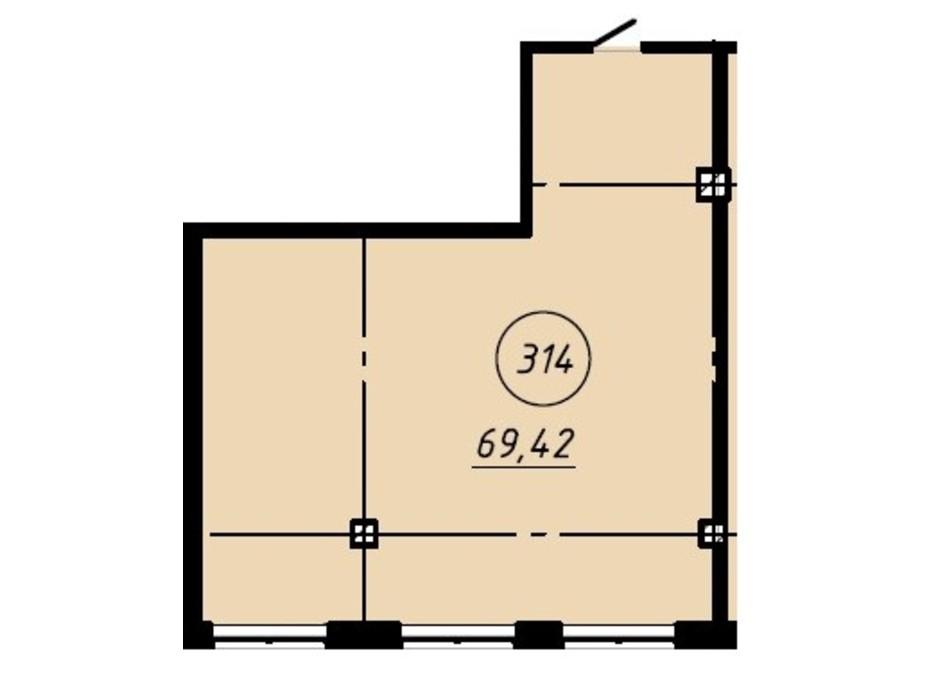 Планировка помещения в Офис-центр Business City 69.42 м², фото 191030
