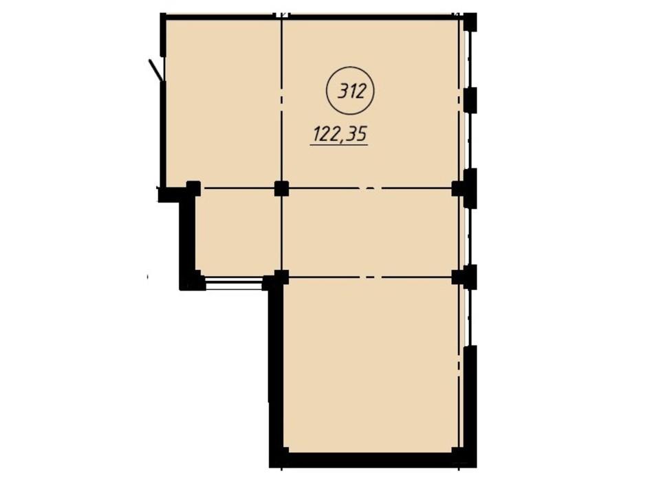 Планировка помещения в Офис-центр Business City 122.35 м², фото 191031