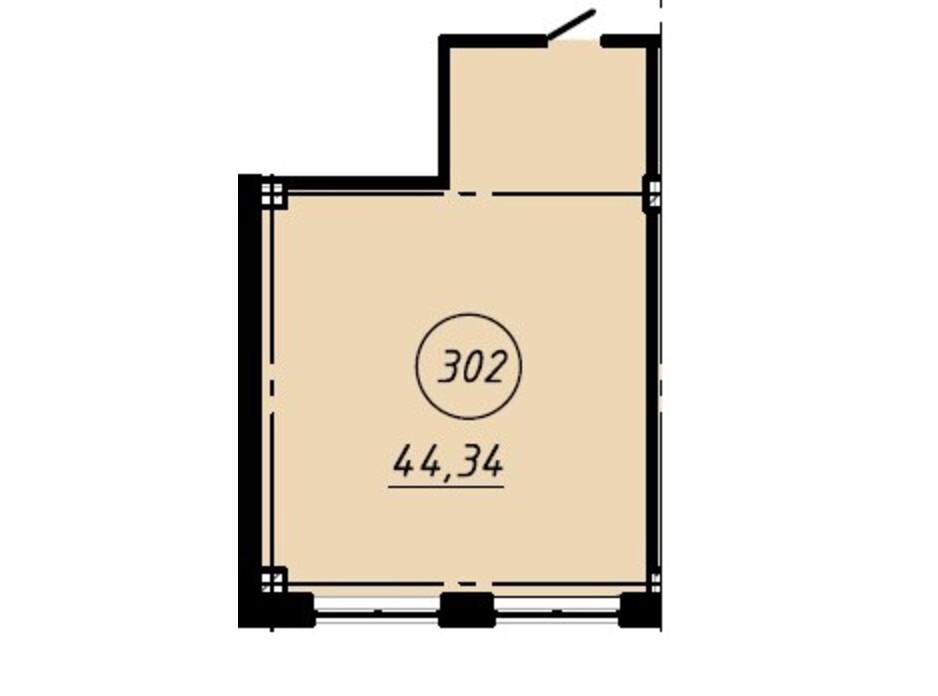 Планировка помещения в Офис-центр Business City 44.34 м², фото 191032