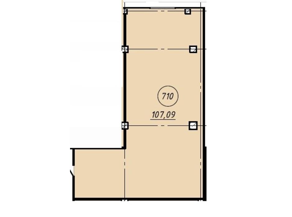 Планировка помещения в Офис-центр Business City 107.09 м², фото 191042