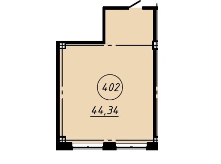 Планировка помещения в Офис-центр Business City 44.34 м², фото 191050