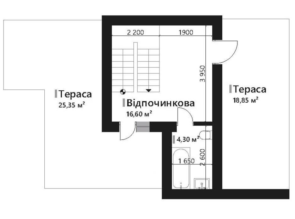 Планировка коттеджа в КГ Renaissance 141.15 м², фото 195424