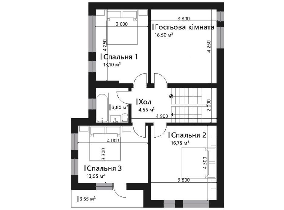 Планування котеджу в КМ Renaissance 157.45 м², фото 195432