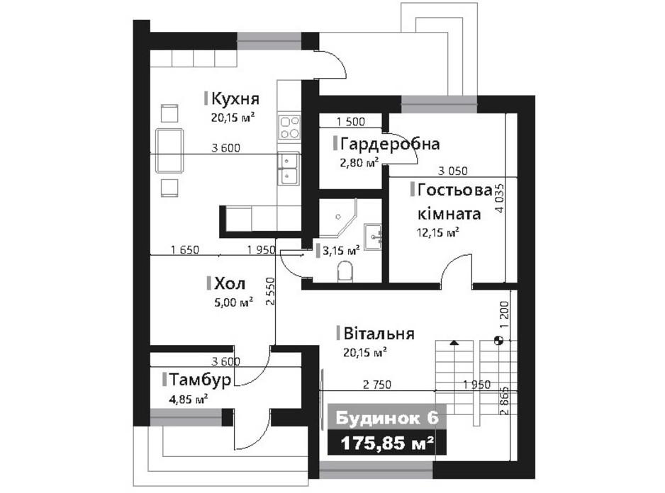 Планировка коттеджа в КГ Renaissance 178.4 м², фото 195434