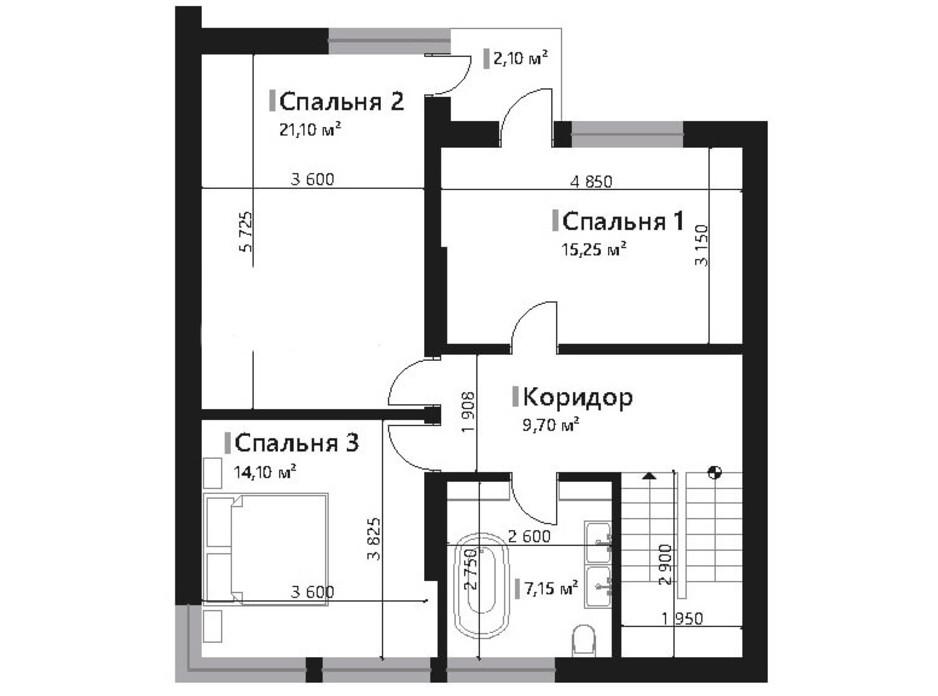 Планировка коттеджа в КГ Renaissance 178.4 м², фото 195435