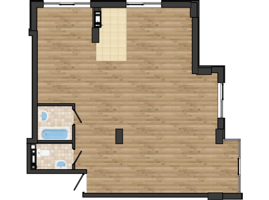 Планировка 3-комнатной квартиры в ЖК Золотая Эра 81.24 м², фото 198691