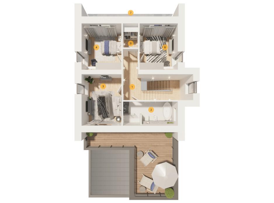 Планування котеджу в КМ Ozon village 160 м², фото 199914