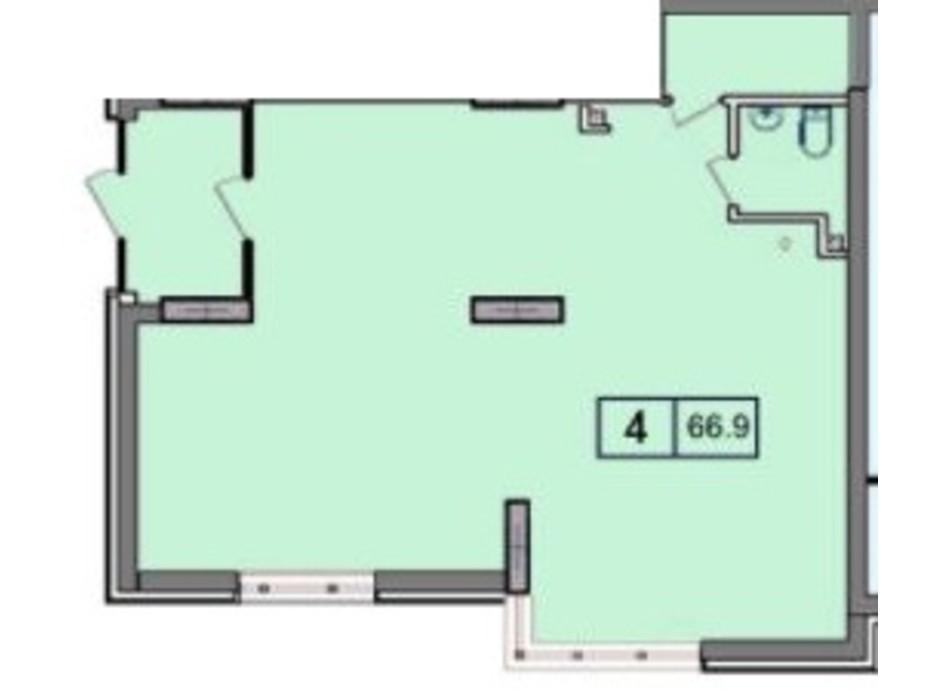 Планування приміщення в ЖК SunCity (СанСіті) 66.9 м², фото 200389