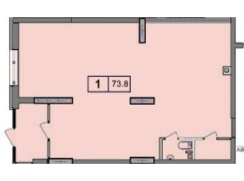 Планування приміщення в ЖК SunCity 73.78 м², фото 200390