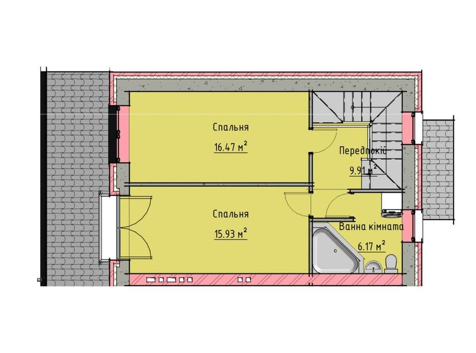 Планировка многоуровневой квартиры в Таунхаусы на Малеванке 98 м², фото 201437