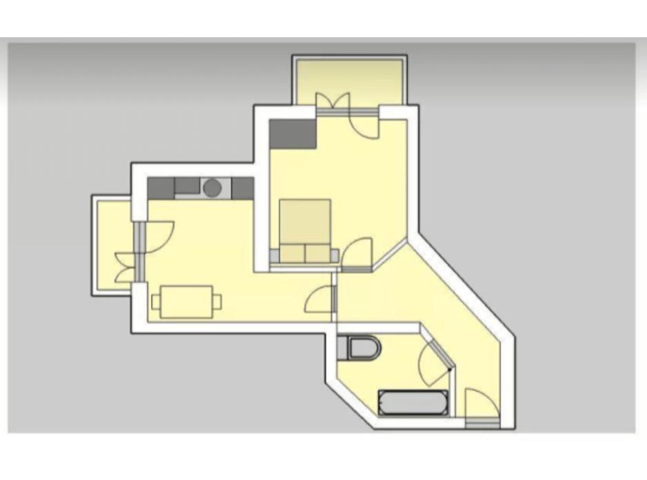 Планування 1-кімнатної квартири в ЖК Liberty 45.01 м², фото 201937