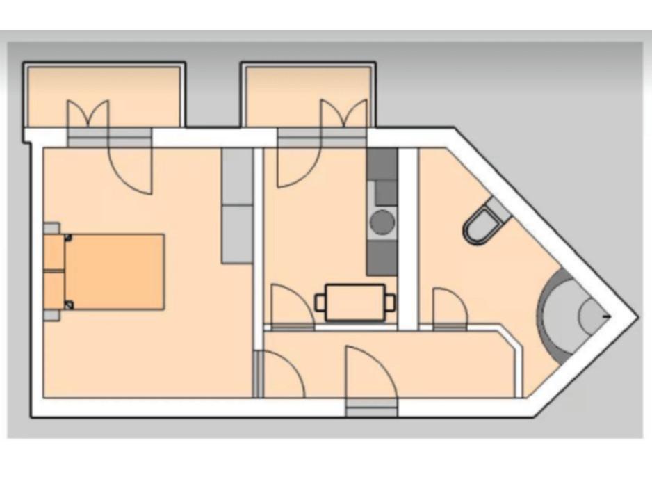 Планування 1-кімнатної квартири в ЖК Liberty 50.58 м², фото 201938
