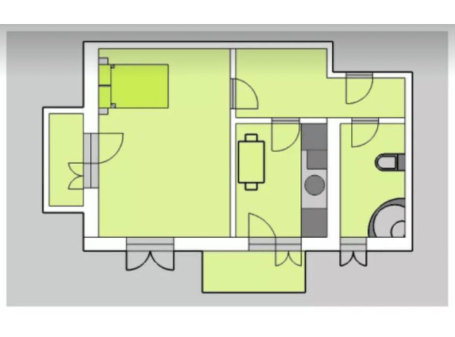 Планування 1-кімнатної квартири в ЖК Liberty 53.29 м², фото 201940