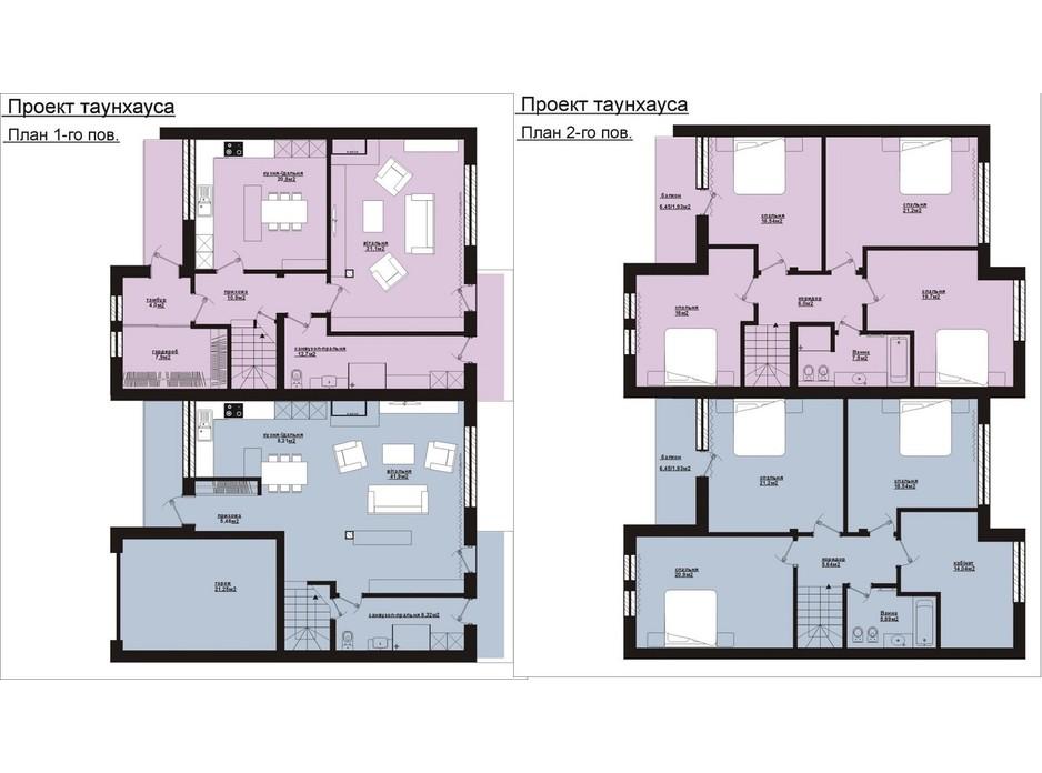 Планировка коттеджа в КГ Панич 2 180 м², фото 206533