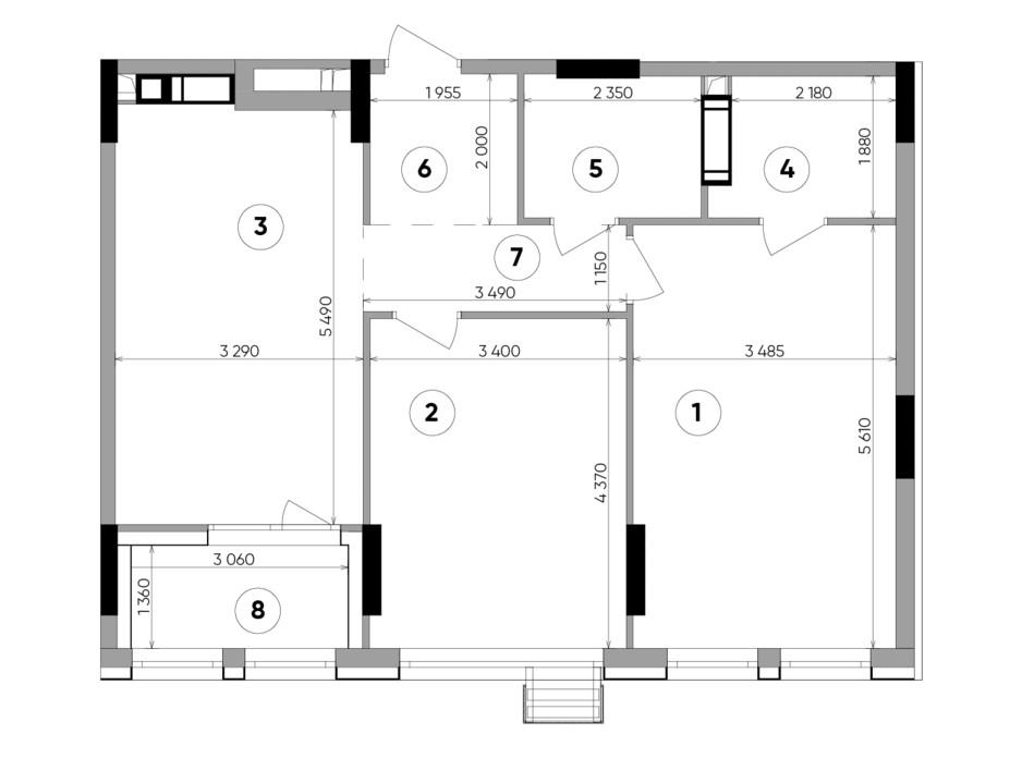 Планировка 2-комнатной квартиры в ЖК Lucky Land 72.17 м², фото 207845
