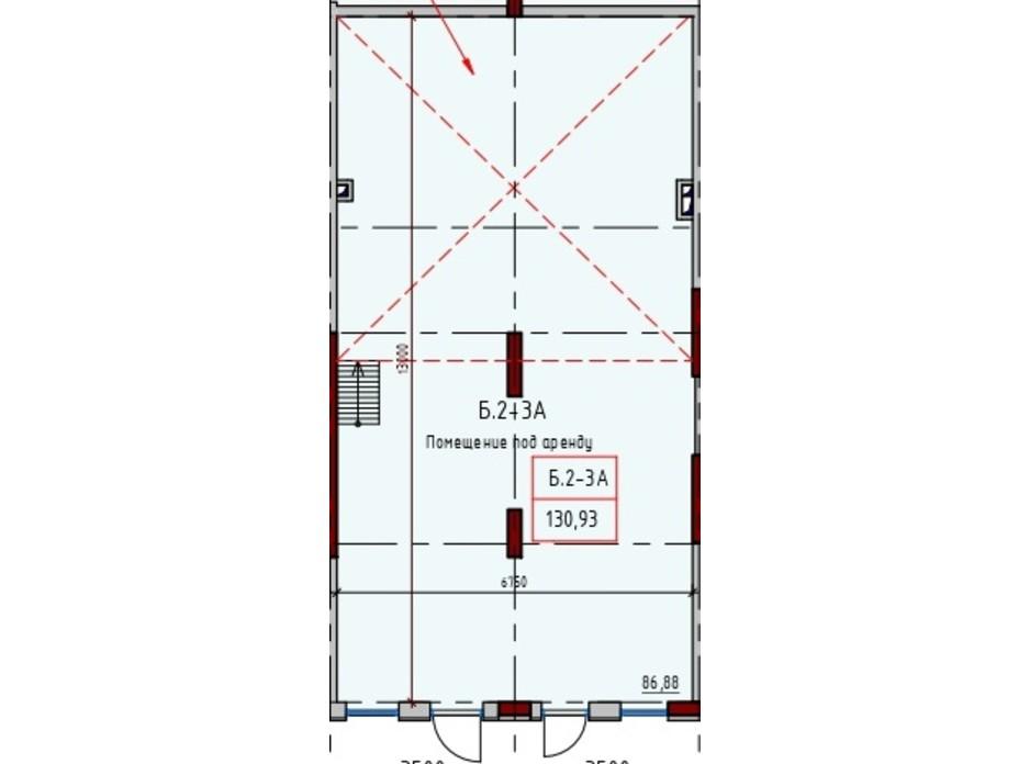 Планировка помещения в ЖК Пространство Экосити на Радостной 130.93 м², фото 209297