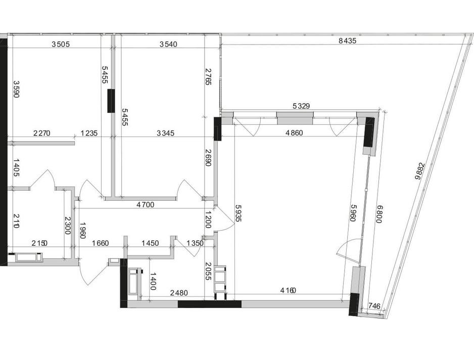 Планування 2-кімнатної квартири в ЖК Park Lake City 90.81 м², фото 209644