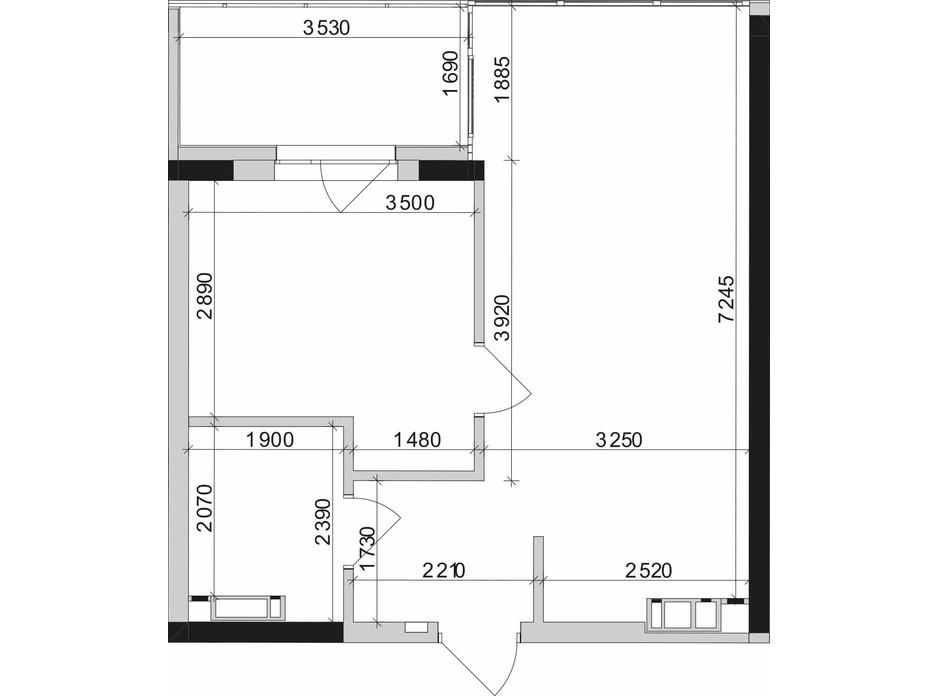 Планировка 1-комнатной квартиры в ЖК Park Lake City (Парк Лейк Сити) 45.27 м², фото 209648