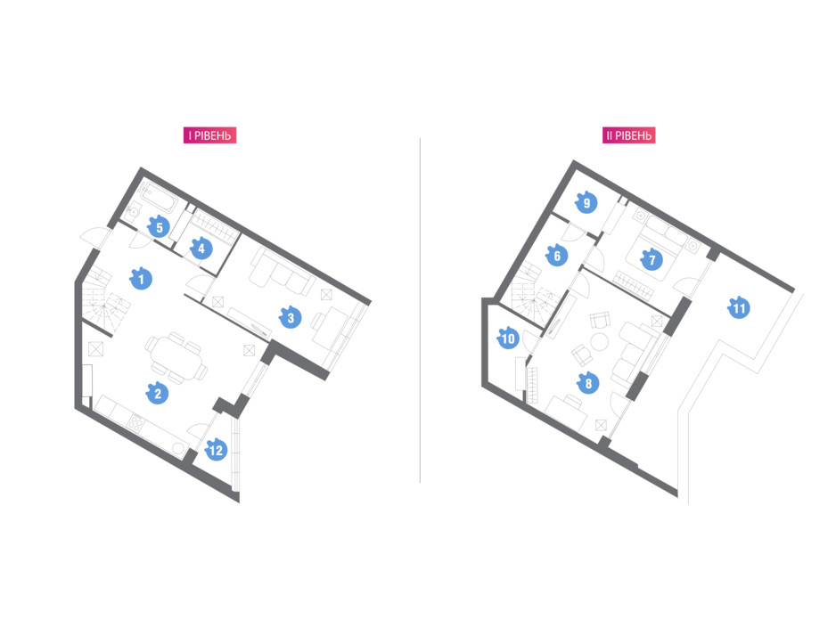 Планировка многоуровневой квартиры в ЖК Family & Friends 131.6 м², фото 209855