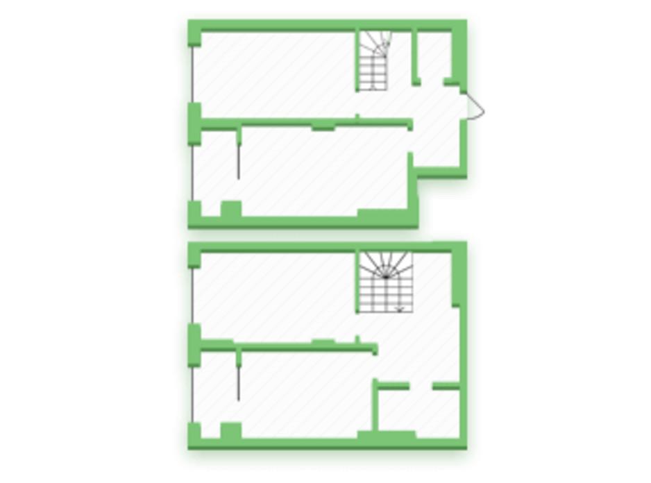 Планування багаторівневої квартири в ЖК Софіївка 92.8 м², фото 210389