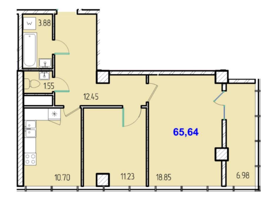 ЖК Сороковая жемчужина планировка 12