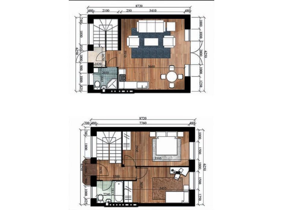 Планировка 2-комнатной квартиры в Таунхаус Royal Family Club 84 м², фото 211388
