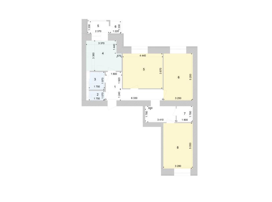 Планування 3-кімнатної квартири в ЖК Голосіївська Долина 90.74 м², фото 212118
