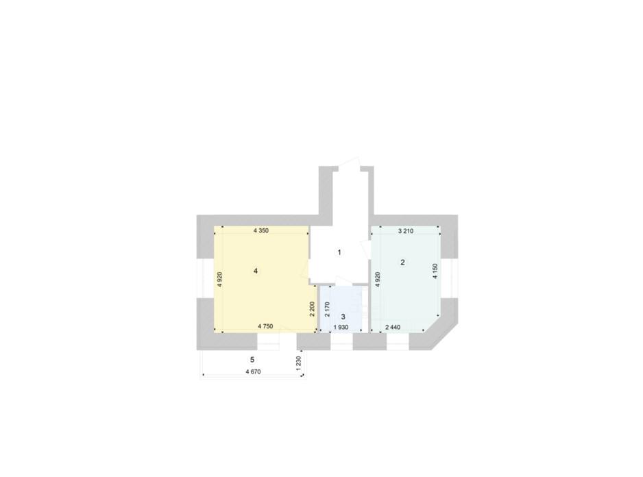 Планування 1-кімнатної квартири в ЖК Голосіївська Долина 53.76 м², фото 212120