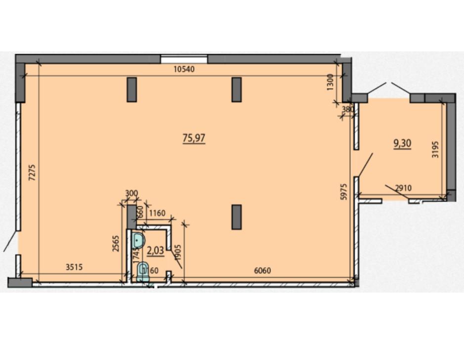 Планировка помещения в ЖК Америка 78 м², фото 212291