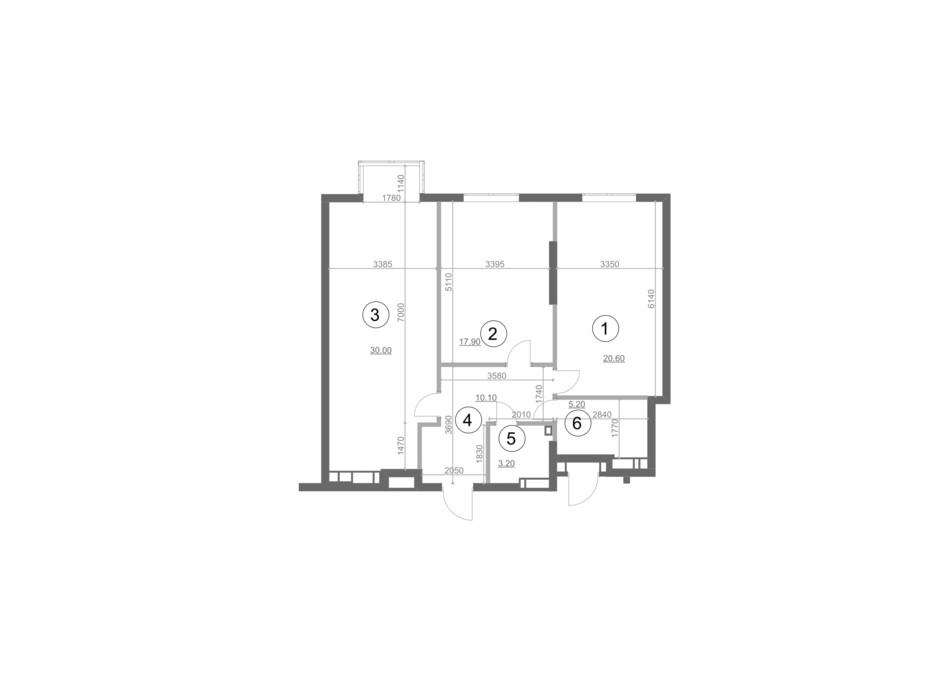 Планировка 2-комнатной квартиры в ЖК Greenville Park Kyiv 85 м², фото 214271