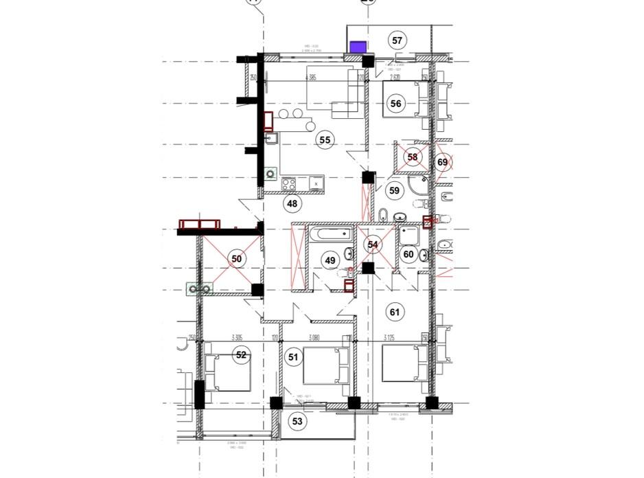 Планировка 4-комнатной квартиры в ЖК Park Residence 118 м², фото 215938
