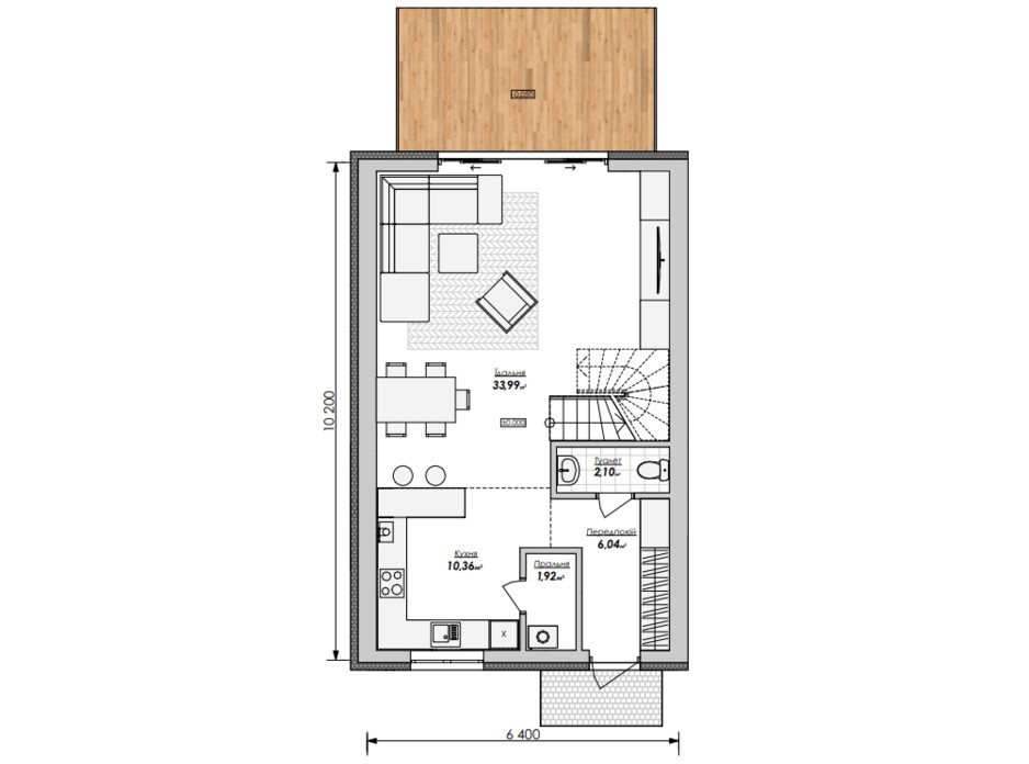 Планировка дуплекса в Таунхаус Мальвы 120 м², фото 215983