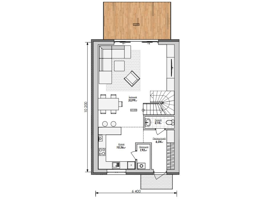 Планировка таунхауса в Таунхаус Мальвы 120 м², фото 215984