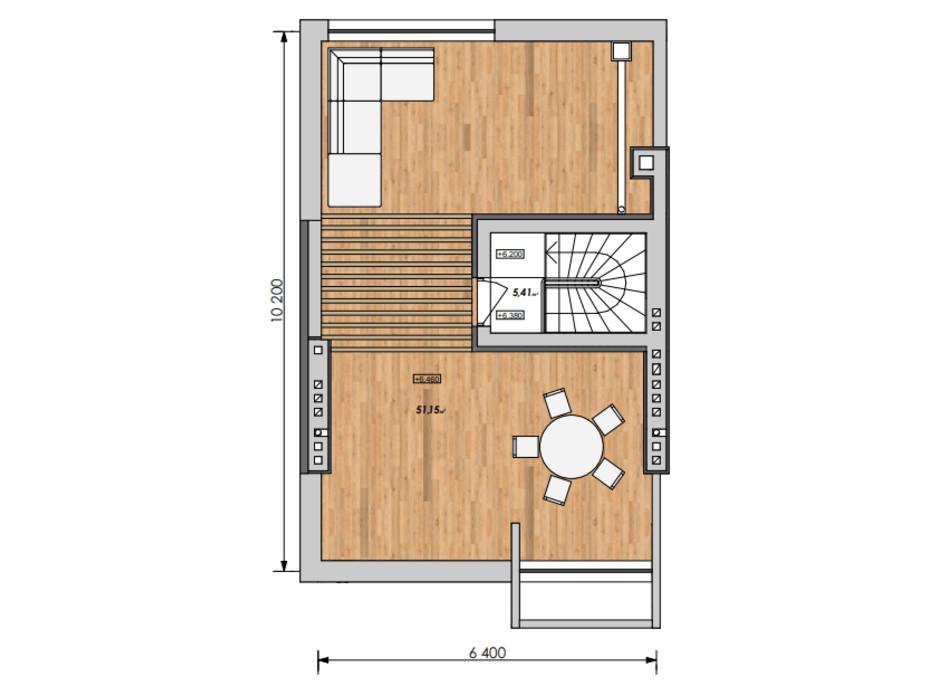 Планировка дуплекса в Таунхаус Мальвы 120 м², фото 215988