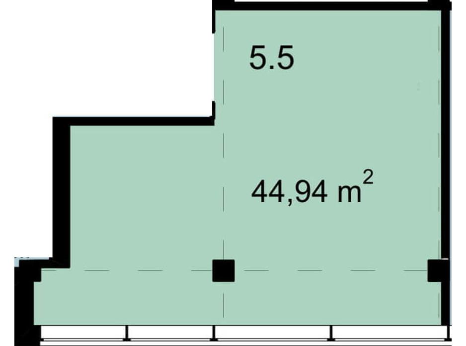 Планировка помещения в Бизнес Центр Q-5  Quoroom Office Metropol 44.94 м², фото 216468