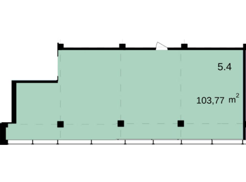 Планировка помещения в Бизнес Центр Q-5  Quoroom Office Metropol 103.77 м², фото 216470